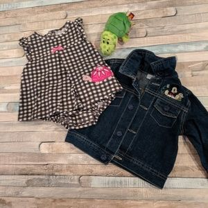Adorable outfit and Disney denim jacket
